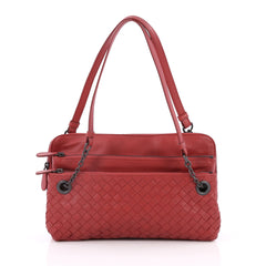 Bottega Veneta Compartment Chain Shoulder Bag Red 2254004