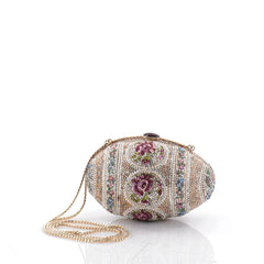 Judith Leiber Egg Minaudiere Crystal and Pearl Small 2255303