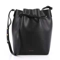 Mansur Gavriel Bucket Bag Leather Large Black 2259401
