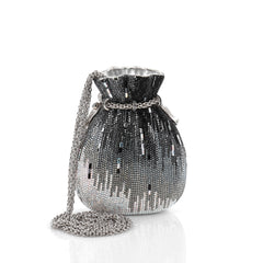 Judith Leiber Beggars Pouch Minaudiere Crystal Small Black 2260902