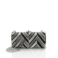 Judith Leiber Minaudiere Crystal Long Black 2260903