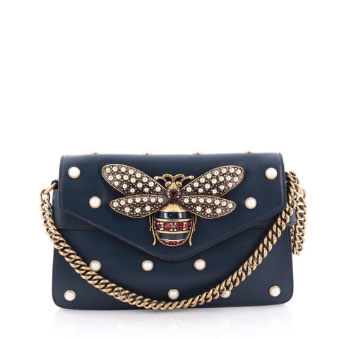e0db5e6154a Buy Gucci Broadway Pearly Bee Shoulder Bag Embellished 2261808 – Rebag