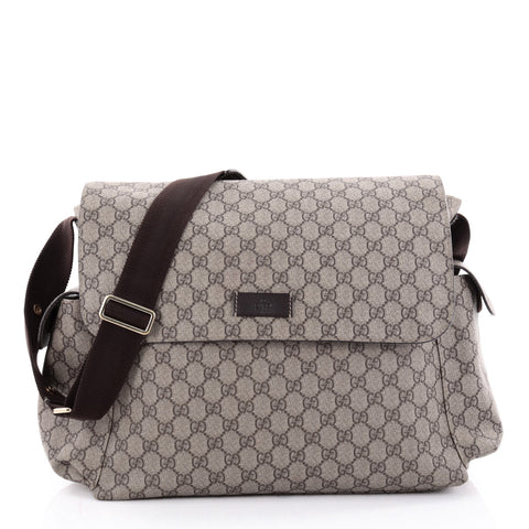 1be463d4e93 Buy Gucci Diaper Bag GG Coated Canvas Brown 2262901 – Rebag