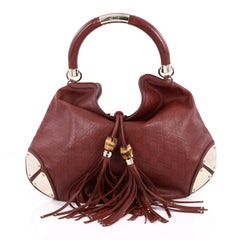 Gucci Indy Hobo Guccissima Leather Large Red 2263505