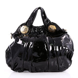 Gucci Hysteria Convertible Top Handle Bag Patent Large Black 2263506