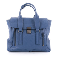3.1 Phillip Lim Pashli Satchel Leather Medium Blue 2266701