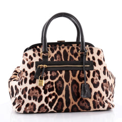 Dolce & Gabbana Miss Brigitte Doctor Bag Calf Hair Large Brown 2272502