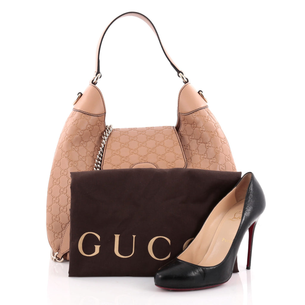 Buy Here Pay Here Ma >> Buy Gucci Emily Hobo Guccissima Leather Medium Brown 2273803 – Trendlee