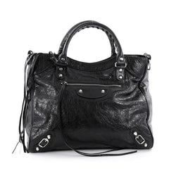 Balenciaga Velo Classic Studs Handbag Leather Black 2275802