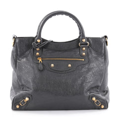 Balenciaga Velo Giant Studs Handbag Leather Gray 2275803