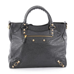 Balenciaga Velo Giant Studs Handbag Leather Gray 2275806