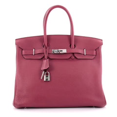 Hermes Birkin Handbag Red Clemence with Palladium 2279301