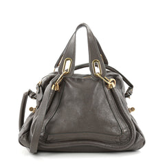 Chloe Paraty Top Handle Bag Leather Medium Brown 2279501