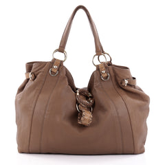 Gucci G Wave Tote Leather Large Brown 2280202