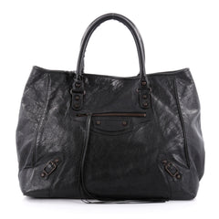 Balenciaga Sunday Tote Classic Studs Leather Small Black 2288404