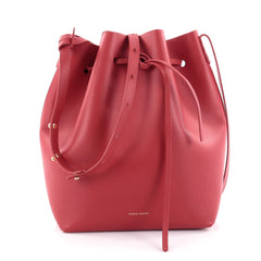 Mansur Gavriel Bucket Bag Leather Large Red 2288501