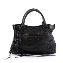 Balenciaga Town Classic Studs Handbag Leather Black 2295201