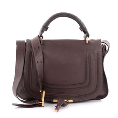 Chloe Marcie Top Handle Bag Leather Medium Brown 2295203