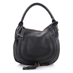 Chloe Marcie Hobo Leather Medium Black 2295803