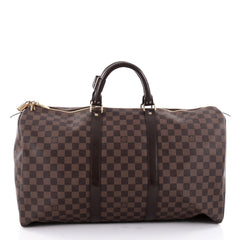Louis Vuitton Keepall Bag Damier 50 Brown