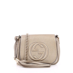 Gucci Soho Chain Strap Crossbody Bag Leather Small Neutral 2302302