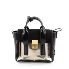 3.1 Phillip Lim Pashli Satchel Patent Mini Black 2304203