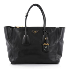 Prada Twin Pocket Tote City Calfskin Large Black 2306501