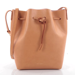 Mansur Gavriel Bucket Bag Leather Large Brown 2307201