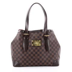Louis Vuitton Hampstead Handbag Damier MM Brown 2307604