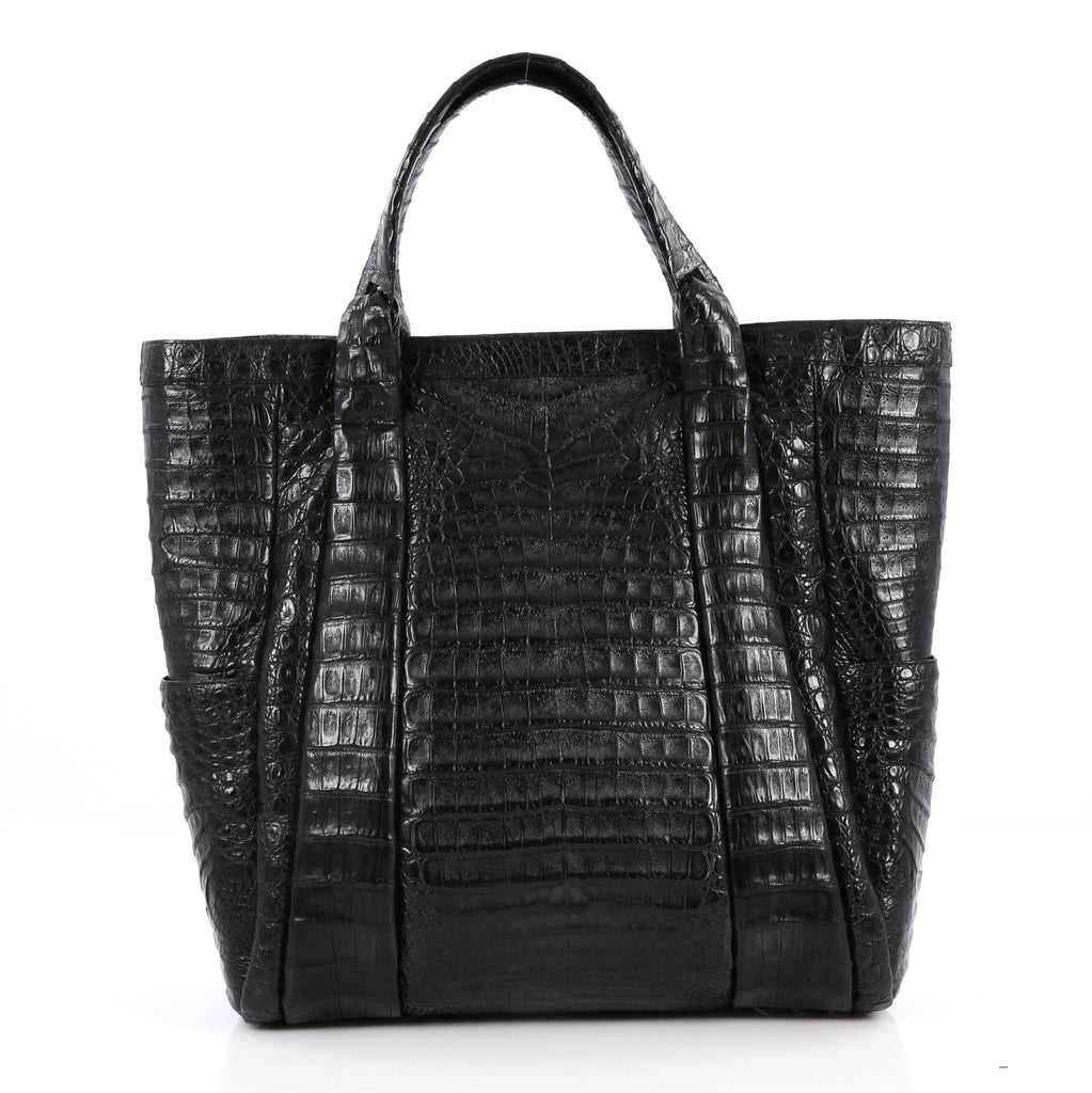 Buy nancy gonzalez tote crocodile large black 2310701 for Nancy gonzalez crocodile tote