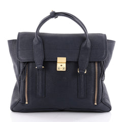 3.1 Phillip Lim Pashli Satchel Leather Large Blue 2311201