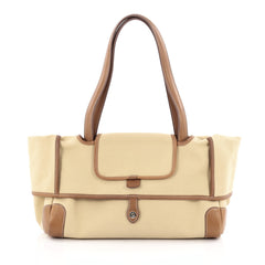 Hermes Passe-Passe Bag Toile and Leather 35