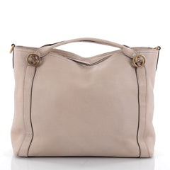 Gucci Miss GG Convertible Tote Leather Medium Neutral 2314801