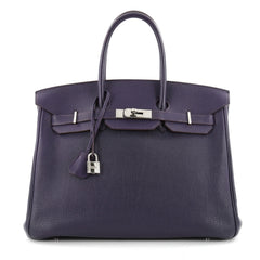 Hermes Birkin Handbag Purple Togo with Palladium 2323802