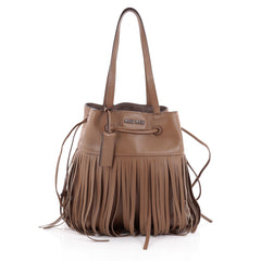 Miu Miu Fringe Shoulder Bag Leather Medium