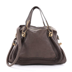 Chloe Paraty Top Handle Bag Leather Medium Brown 2326102