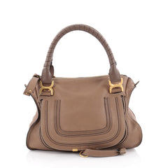 Chloe Marcie Satchel Leather Medium Brown 2326103