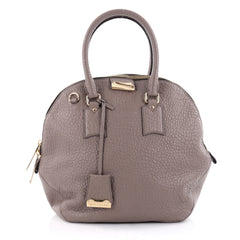 Burberry Orchard Bag Heritage Grained Leather Medium Gray 2327701