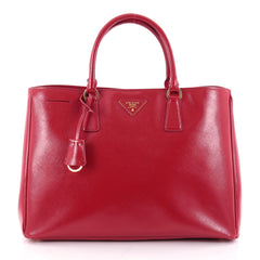 Prada Lux Open Tote Vernice Saffiano Leather Large Red 2329302