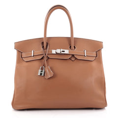 Hermes Birkin Handbag Brown Swift with Palladium 2329401