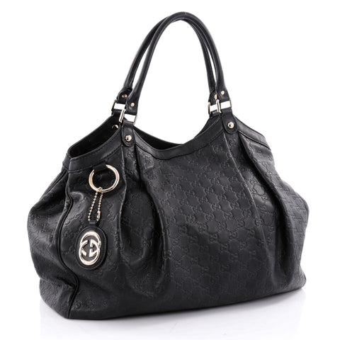 b56a11b2c3e9 Gucci Large Black Leather Sukey Tote | Stanford Center for ...