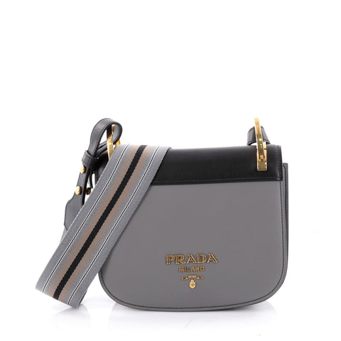 6f40dd67daef Buy Prada Pionniere Leather Strap Saddle Bag City Calfskin 2332301 – Rebag