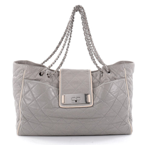 e88f866e03a9 Buy Chanel Mademoiselle Lock East West Tote Quilted Leather 2336101 – Rebag