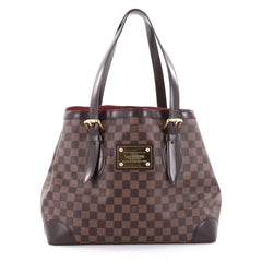 Louis Vuitton Hampstead Handbag Damier MM Brown 2339302