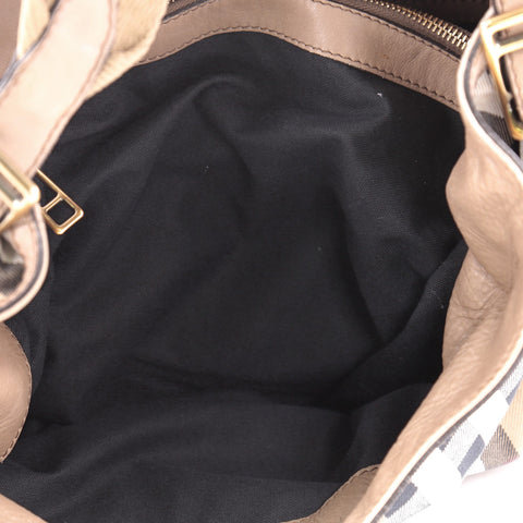 Buy Burberry Parsons Hobo House Check Canvas and Leather 2340901 – Rebag 8c3d2967c1