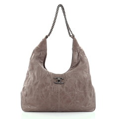 Chanel Coco Supple Hobo Quilted Calfskin Large Brown