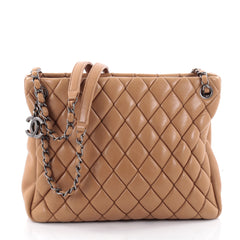 Chanel New Bubble Tote Quilted Calfskin Small Brown 2345701
