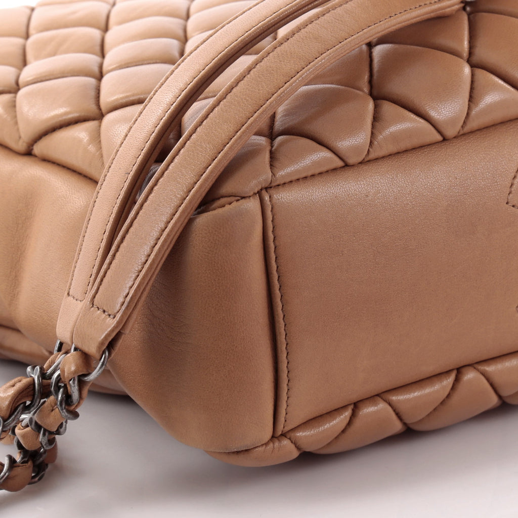 f679932ce1d400 Buy Chanel New Bubble Tote Quilted Calfskin Small Brown 2345701 – Rebag