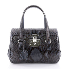 Gucci Lady Lock Satchel Python Small Blue 2345805