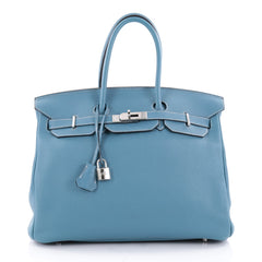 Hermes Birkin Handbag Blue Togo with Palladium Hardware 2347703